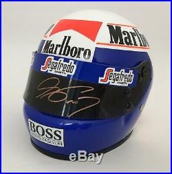 Alain Prost SIGNED 1/2 half scale helmet, 1985 Marlboro McLaren Formula 1, MIB