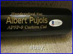 Albert Pujols Cardinals Angels Signed Marucci Game Model AP5P-S Bat BAS Auth