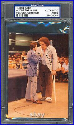Andre The Giant Authentic Signed 3.5x4.75 Photo Autographed PSA/DNA Slabbed