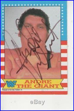 Andre The Giant Signed 1987 Wwe O-pee-chee #2 = Very Rare