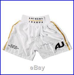 Anthony Joshua Signed Boxing Shorts Joshua v Klitschko Autograph