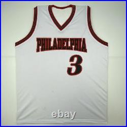 Autographed/Signed ALLEN IVERSON Philadelphia White Basketball Jersey PSA COA