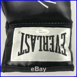 Autographed/Signed MIKE TYSON Black Everlast Boxing Glove JSA Spence COA Auto