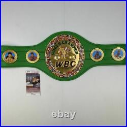 Autographed/Signed MIKE TYSON WBC Boxing Replica Championship Belt JSA COA Auto