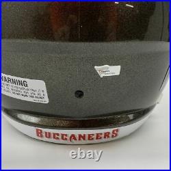 Autographed/Signed TOM BRADY SB LV Buccaneers Full Size Helmet Fanatics COA/LOA