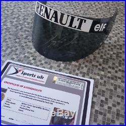 Ayrton Senna 1/1 SIGNED BELL M3 Race Visor. Helmet, Helm, Casque, + COA