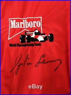 Ayrton Senna & Alain Prost SIGNED Morlboro Formula 1 Promotional Jacket 1988/89