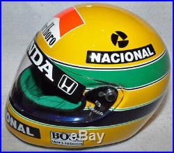 Ayrton Senna Autographed Signed 1/1 Replica 1991 F1 Helmet with a COA