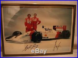 Ayrton Senna / Gerhart Berger Signed Photograph