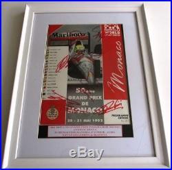 Ayrton Senna, Michael Schumacher Multi Signed Monaco GP Programme AFTAL/UACC RD