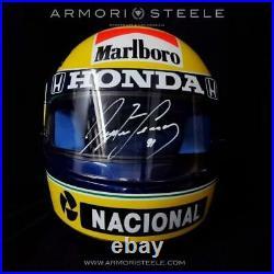 Ayrton Senna Signed Helmet 1991 Autographed Visor Tribute Shoei Grv-4