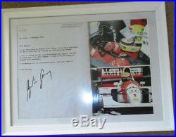 Ayrton Senna Signed Original 1993 Letter