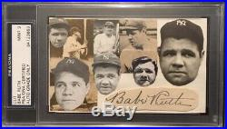 BABE RUTH Signed Autographed Cut PSA Authentication Yankees MINT 9