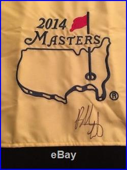 BUBBA WATSON Signed 2014 MASTERS FLAG Winner Champion PGA 2018