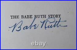 Babe Ruth Autographed Signed The Babe Ruth Story Book Yankees Beckett AA00355