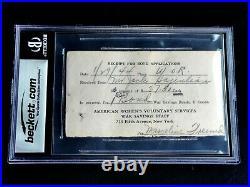 Babe Ruth Grade 9 Mint Signed Autograph Beckett (bas) Certified Auto Hof