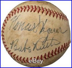 Babe Ruth Honus Wagner Multi HOF Signed Baseball PSA / DNA JSA NM MT MINT + Auto