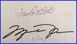 Babe Ruth Michael Jordan Dual Signed Album Page AUTO Autograph JSA UDA LOA