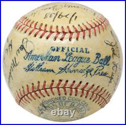 Babe Ruth Signed 1938 Yankees AL Hall of Famers Baseball PSA/DNA LOA K78140