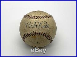 Babe Ruth Signed Baseball Beautiful Signature! 10% Charity Auction