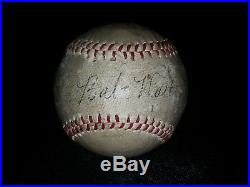 Babe Ruth Single Signed Baseball PSA LOA