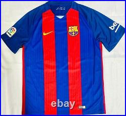 Barcelona Ronaldinho Signed Soccer Jersey Autographed Beckett BAS