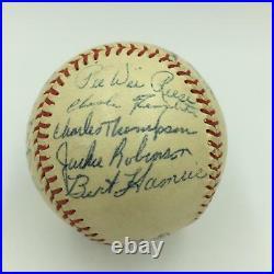 Beautiful 1955 Brooklyn Dodgers Team Signed Baseball Jackie Robinson JSA COA