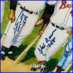Beautiful 500 Home Run Club Signed Photo With HR Totals Mickey Mantle JSA COA