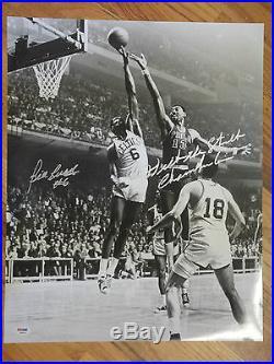 Bill Russell & Wilt The Stilt Chamberlain Psa/dna Signed 16x20 Photo Autographed
