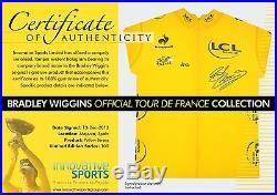 Bradley Wiggins Signed Tour de France Photos & Yellow Jerseys Cycling TDF 2012