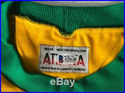 Brazil Pele, Ronaldo and Ronaldinho Signed Soccer Jersey Auto Becket BAS LOA