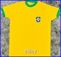 Brazil Ronaldinho, Ronaldo and Pele Signed Jersey Auto Becket BAS LOA