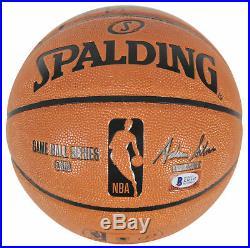 Bulls Dennis Worm Rodman Authentic Signed Spalding Basketball BAS Witnessed