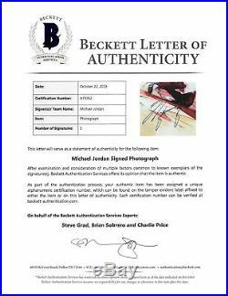 Bulls Michael Jordan Authentic Signed 8x10 Photo Autographed BAS #A79362