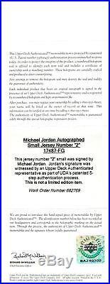 Bulls Michael Jordan Authentic Signed Jersey Number Framed (18x22) UDA #BAJ40702