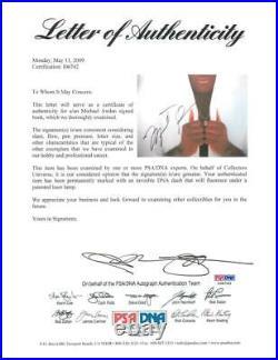 Bulls Michael Jordan Authentic Signed Rare Air Paperback Book PSA/DNA #I06742