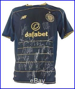 Celtic Signed Football Shirt 2017 + Photo Proof See Players Sign This Shirt