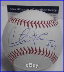 CHARLIE SHEEN Signed MLB Baseball AUTO with 99 R Vaughn MAJOR LEAGUE Movie PSA