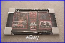 CM Punk & Paul Heyman Signed Commemorative WWE Champion Plaque Limited 6/434