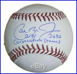 Cal Ripken Jr Signed Balt Orioles OML Baseball 2131 2632 Consecutive JSA 12895
