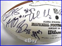 Cam Newton Andrew Luck JJ Watt 2014 TEAM Sanders Signed Autograph Football Ball