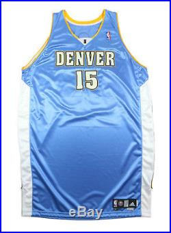 Carmelo Anthony 2008-09 Signed Denver Nuggets Game Used Worn Jersey