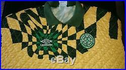 Celtic 1992 Pat Bonner Matchworn Umbro GK Shirt Signed and Rare