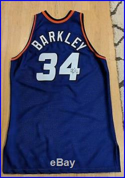 Charles Barkley signed Phoenix Suns Game Road Jersey limited edition tag removed