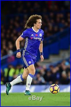 Chelsea David Luiz Poppy Premier League Match Day Shirt MATCH WORN AND SIGNED