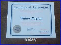 Chicago Bears HOF Autograph Signed 8 x 10 WALTER PAYTON Sweetness #34 COA