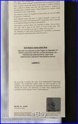 Chicago Bulls Replica Jersey Signed By Scottie Pippen UDA Upper Deck