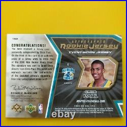 Chris Paul SUNS 2005-06 SPx #153 Auto Signed Jersey Rookie Card RC #/ 750