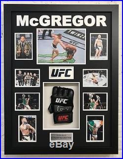 Conor McGregor Signed & FRAMED UFC Glove Genuine Autograph AFTAL COA