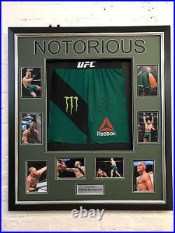 Conor McGregor Signed & FRAMED UFC Trunks Genuine Autograph AFTAL COA (FTOWOF)